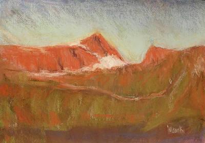 Pastel - Dawn Over Mt Albert Edward by Nanci Cook