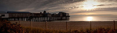 Beach Photograph - Dawn Over Old Orchard Beach Maine by David Bishop