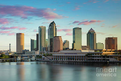 Photograph - Dawn Over Tampa Florida by Brian Jannsen