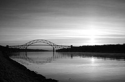 Bourne Bridge Photograph - Dawn Over The Cape Cod Canal by Conor McLaughlin