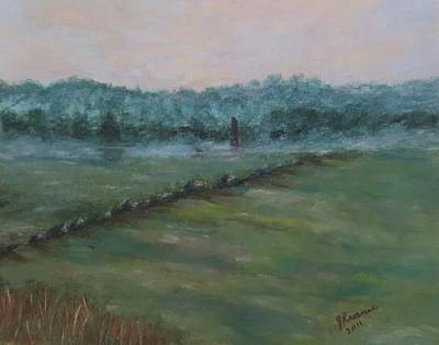 Painting - Dawn Over The Railroad Cut-gettysburg by Joann Renner
