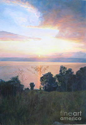 Tiberias Painting - Dawn Over The Sea Of Galilee. by Maya Bukhina