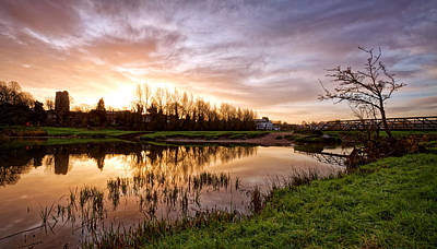 Photograph - Dawn Over The Stour by Ian Merton