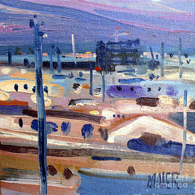Painting - Dawn Overlooking The El Camino Real by Donald Maier