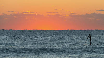 Photograph - Dawn Paddleboarder Delray Beach Florida by Lawrence S Richardson Jr