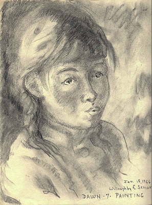 Drawing - Dawn Painting At Seven Years Old by Willoughby Senior