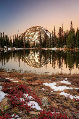 Photograph - Dawn Reflection In The Uinta Mountains. by Johnny Adolphson