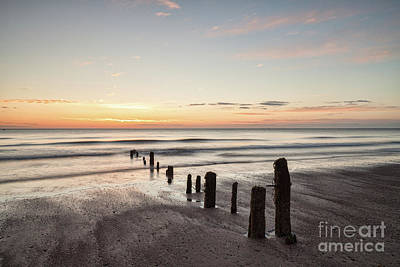 Photograph - Dawn, Sandsend Beach, North Yorkshire by Colin and Linda McKie