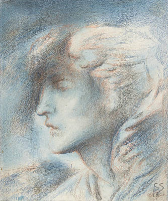 Drawing - Dawn  by Simeon Solomon