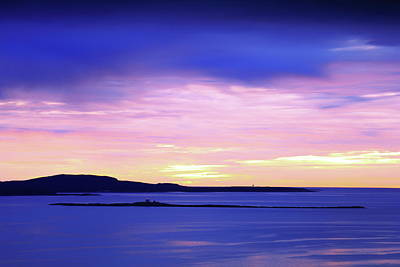 Photograph - Dawn Sky Over Acadia National Park by Roupen  Baker