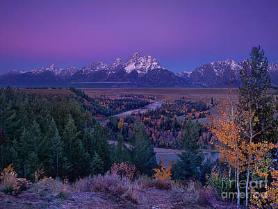 Photograph - Dawn Snake River Overlook Grand Tetons National Park by Dave Welling
