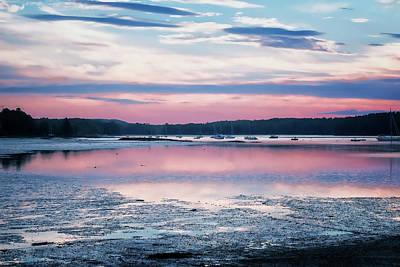 Photograph - Dawn South Freeport Harbor by Tom Singleton