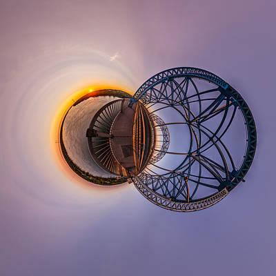 Photograph - Dawn Twin Globes by Chris Bordeleau