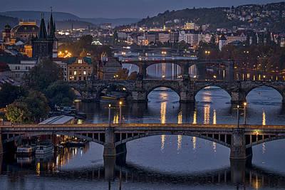 Photograph - Dawn View From Letna Park - Prague by Stuart Litoff