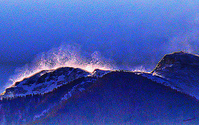 Photograph - Dawn With Snow Banners Over Truchas Peaks by Anastasia Savage Ealy