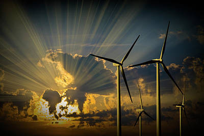 Photograph - Dawning Of A New Age In Energy by Randall Nyhof