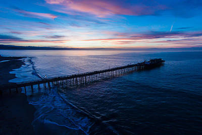 Santa Cruz Wharf Photograph - Dawning Of A New Day by David Levy