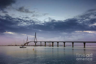 Photograph - Dawning Under 1812 Constitution Bridge Cadiz Spain by Pablo Avanzini