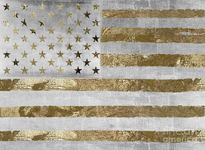 Patriotic Flag Painting - Dawn's Early Light II by Mindy Sommers