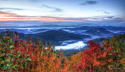 Photograph - Dawns Early Light Looking Glass Rock Great Smoky Mountain Art by Reid Callaway