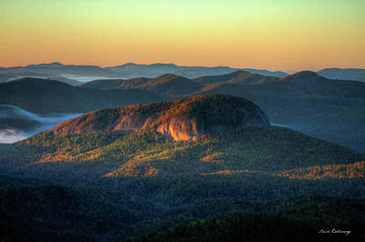 Dawns Early Light Looking Glass Rock Sunrise Appalachian  Mountains Art Art Print