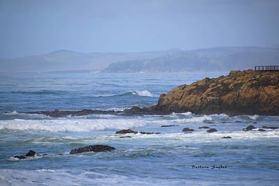 Photograph - Dawns Early Light Moonstone Beach Cambria by Barbara Snyder