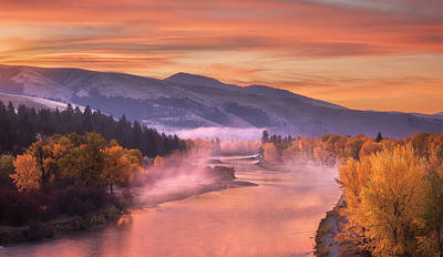 Photograph - Dawn's Early Mist On The Bitterroot by Scott Wheeler