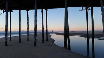 Photograph - Dawn's Light Through The Pier by Robert Banach