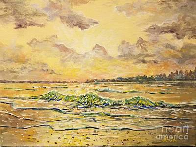 Painting - Dawns View Of Siesta Key by Lou Ann Bagnall
