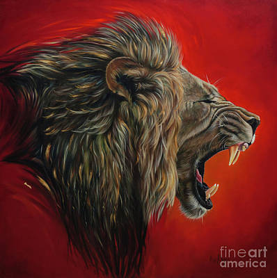 Lion Of Judah Painting - Day 3 / Victory by Ilse Kleyn