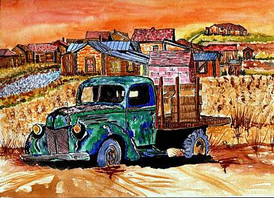 Painting - Day At Bodie Calif. by Connie Valasco
