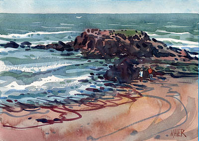 Painting - Day At The Beach by Donald Maier