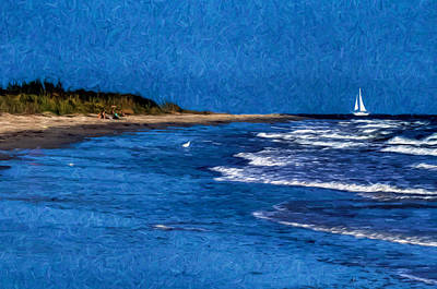 Photograph - Day At The Beach by Jerry Gammon
