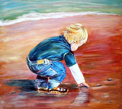 Painting - Day At The Beach by Patricia Piffath