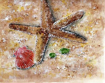 Sea Glass Painting - Day At The Beach by Sheryl Heatherly Hawkins