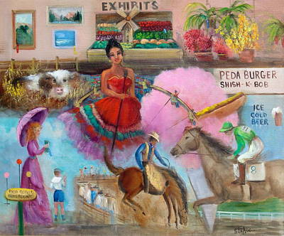 Country Fair Painting - Day At The Fair by Sally Seago