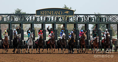 Jockeys Photograph - Keeneland Race Day by Angela G