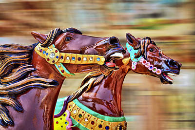 Carousel Photograph - Day At The Races by Evelina Kremsdorf