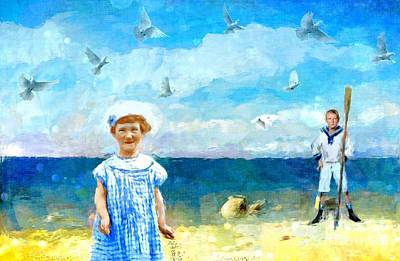 Digital Art - Day At The Shore by Alexis Rotella
