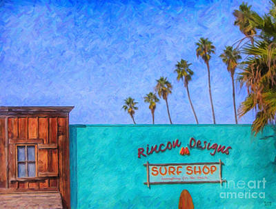 Day At The Surf Shop Art Print