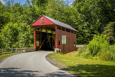 Photograph - Day Covered Bridge by Jack R Perry
