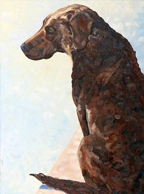 Painting - Day Dreamin Dog by Phil Chadwick