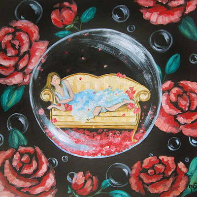 Day Dreaming In My Bubble Original by Ira Mitchell-Kirk