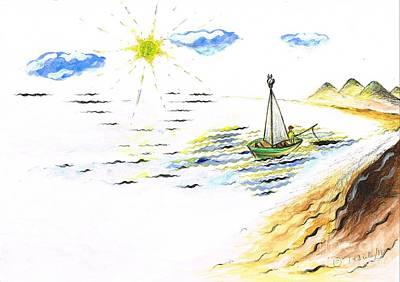 Mixed Media - Day Fishing by Teresa White