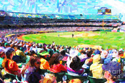 Day Game At The Old Ballpark Art Print by Wingsdomain Art and Photography