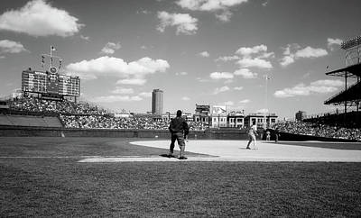 Photograph - Day Game At Wrigley 1990s by Mountain Dreams