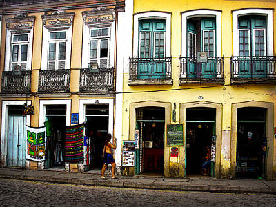 Cobblestone Streets Digital Art - Day In Bahia by Julie Palencia
