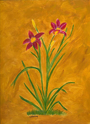 Painting - Day Lilies #3 by Linda Feinberg