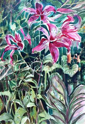 Painting - Day Lilies Day Light by Mindy Newman