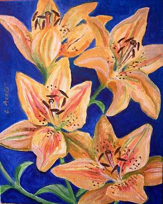 Painting - Day Lilies by Laura Aceto